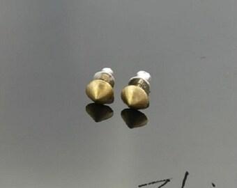 Earrings Brads Round Bronze