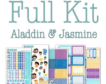 Aladdin and Jasmine Collection - Disney Planner Stickers