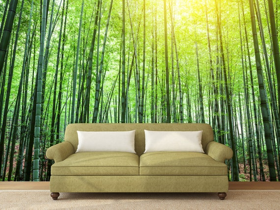 bamboo forest custom printed wall mural wallpaper peel mural print custom mural wall printing
