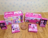 Dolls house set of 6 barbie doll boxed toys 1/12 scale for your nursery or shop