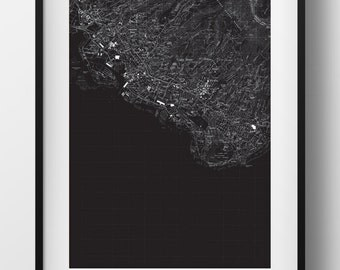 Honolulu, HI Map Poster 11x17 Digital File