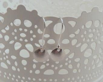 Handmade Dot Sterling Silver Earrings; Free UK Delivery