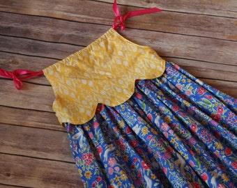 Blueberry Field maxi dress, boutique maxi dress, girls boutique maxi dress, girls summer maxi dress, boutique girls dress