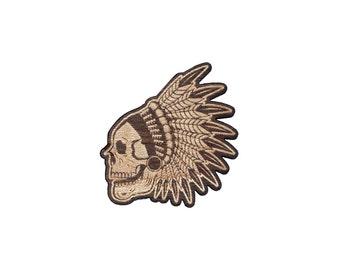Chief Skull Laser Cut Lapel Pin