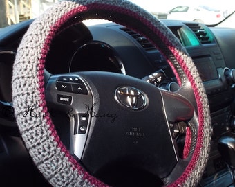 Crochet Steering Wheel Cover * PATTERN ONLY*