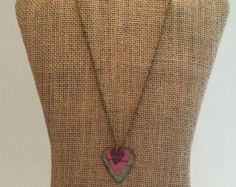 Valentine Necklace. Tri-Heart Necklace. Upcycled Heart Necklace. Metal Jewelry. Upcycled Jewelry. Ready to Ship.