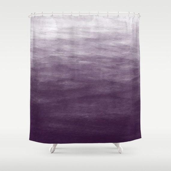 Purple ombre watercolor shower curtain bath by for Purple ombre shower curtain
