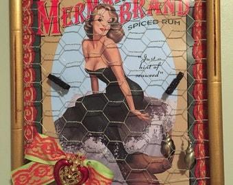 Mermaid Earring Hanger, Memo or Photo Board