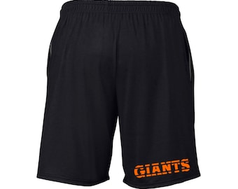 Mens Giants Shorts Black Sizes Small - 2XL