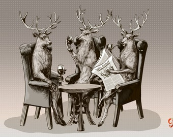 Stag Party Print