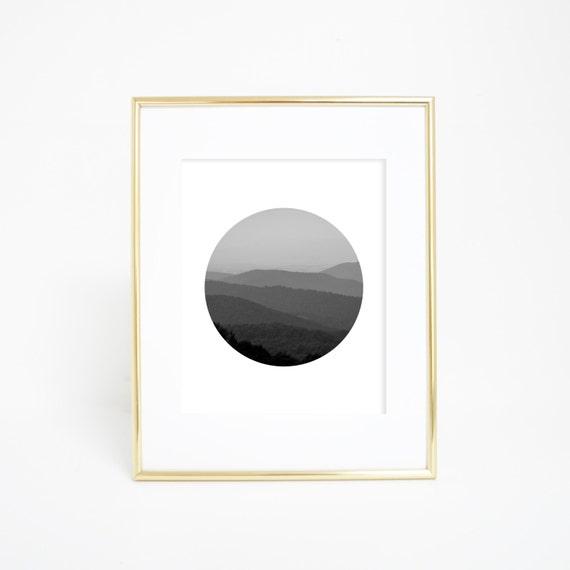 Circle Print, Shenandoah Print, Wall Art, Printable Art, Mountain Print, Mountain Wall Art, Circle Wall Art, Virginia Art, Shenandoah Art