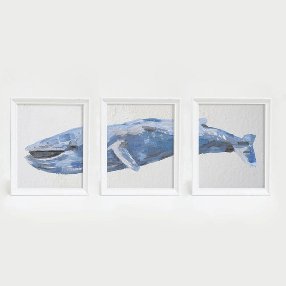 Blue Whale, Whale Print, Whale Wall Art, Whale Decor, Coastal Art, Nautical Print, Ocean Decor, Sea Decor, Beach Art Print, Sea Life Prints