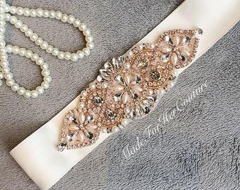 Rose gold sash, Rose gold belt, rose gold bridal belt, rose gold wedding Sash, rosegold sash belt, wedding sash, wedding belt, bridal sash