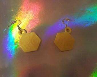 Yellow Baby Block Earrings
