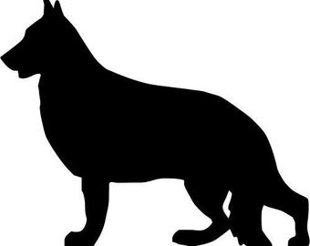 German shepherd sticker -2