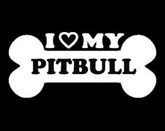 I <3 my pit bull sticker