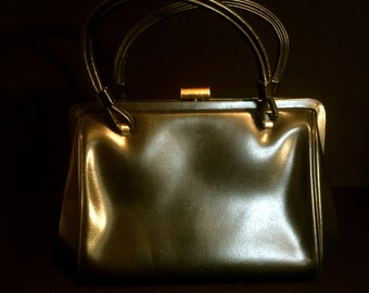 Vintage 50's  Navy Ladies Handbag             VG2135