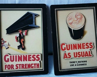 2 Large Guinness Refrigerator, Fridge Magnets, Made In Canada