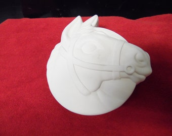 Ceramic bisque ready to paint Horse Trinket Box