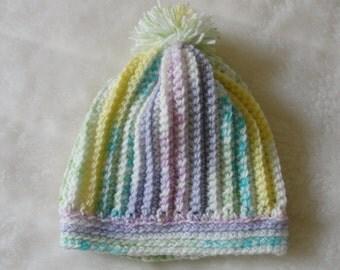 Handmade Crochet Baby  Multicolored Beannie.
