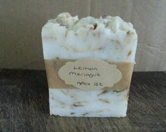 Homemade Lemon Meringue soap