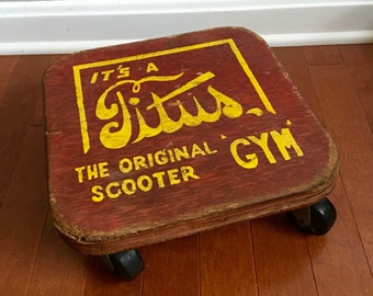 Vintage Red Titus Gym Scooter