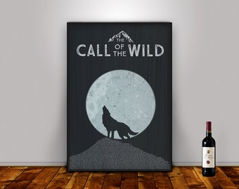 The Call of the Wild, Jack London, Literary Quote print,Literary Art Print, Wall Art Posters, Literary Quote Poster, Literary Gift
