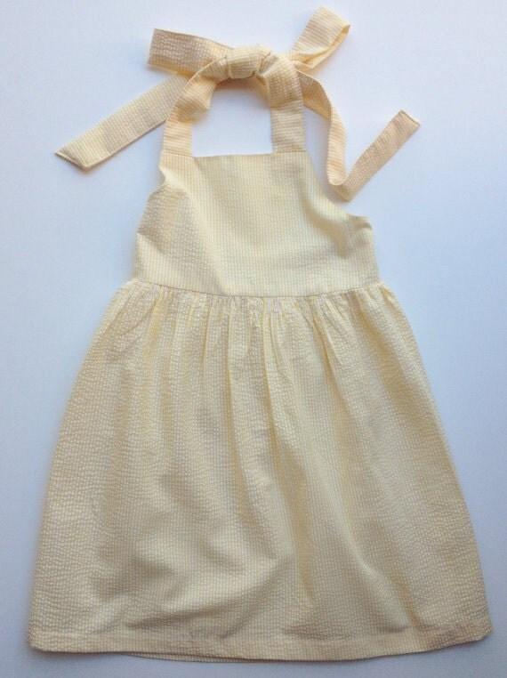 Girls Seersucker Halter Dress Toddler Seersucker Girls