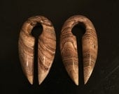 Picture jasper stone weights ear weights