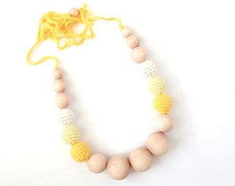 Sun colors necklace - organic -sale 30% off
