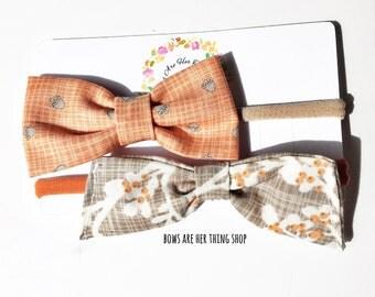 AUTUMN BABE bow headband set