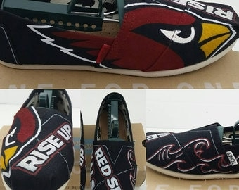 SALE** Custom Arizona Cardinals Toms Shoes - Made to Order FREE SHIPPING