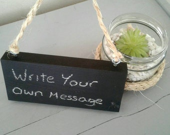 Blank Wooden Chalkboard Signs - 2 Sizes - Write Your Own Messages