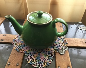 Vintage HALL Green Teapot