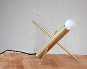 Modern Accent Lamp - Holly - Mid Century Modern Brass Desk Light