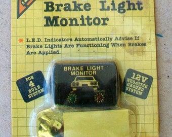 Vintage Auto Brake Light Monitor - New Old Stock