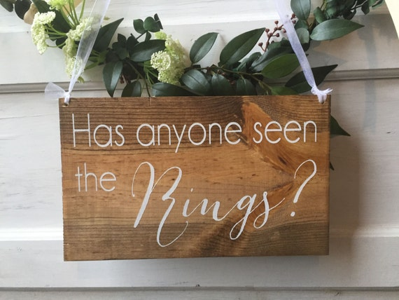 Has Anyone Ordered Wedding Flowers From Costco : Has anyone seen the rings sign ring bearer rustic
