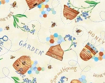 Quilting Bee Yellow Fabric 26329 by Michelle Palmer for Red Rooster Fabrics / Fat Quarter, 1/2 Yard and 1 Yard Cuts  / Cotton Fabric