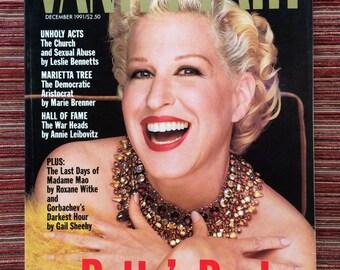 Bette Midler,Bette Midler Magazine,Bette Midler Art,Vanity Fair,Movie Star Magazine,Movie Star Cover,American Magazine,90s Magazine