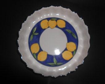 Temuka Lisbon Lemon Pie Dish, Tart Pan, Pie plate