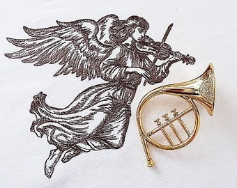 Machine Embroidery Design - Angel with violin
