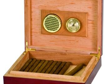 Cigar Humidor;  Rosewood Piano Finish