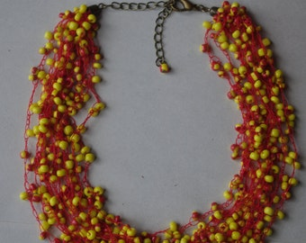 Yellow-Red air necklace