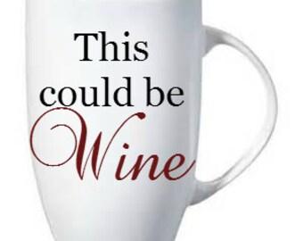 This could be Wine, 15 oz  Ceramic Latte Coffee Mug