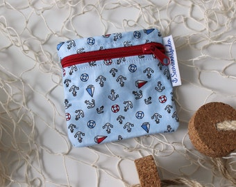 anchors tampon case, tampon holder, change, mini purse, little purse, organizer, stocking stuffer