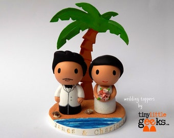Wedding Cake Toppr - Beach Wedding Topper