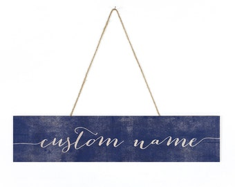 Custom Name Wood Sign - Personalized Wooden Sign, Custom Wood Gift, Wood Script Sign, Wood Name Sign, Hanging Name Sign, Custom Wooden Name