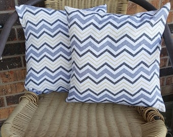 SALE* Yellow and Grey Chevron 14x14 Pillow Cover Set