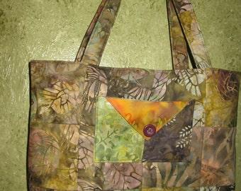 Tote Bag - Warm Batik Shade #2