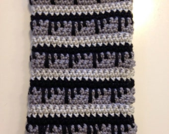Cell phone case, cell phone case, Smartphonehülle, Smartphoneetui, crochet, black, grey